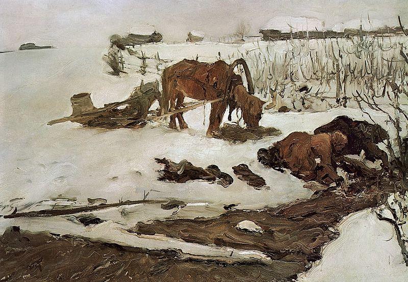 serov_-_rinsing_linen