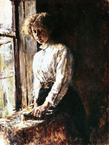 walentin_aleksandrovich_serov_by_the_window